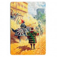 """Puzzle-Postkarte """"Ritterturnier"""""""
