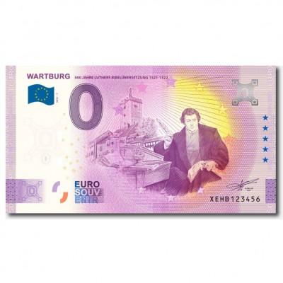 """Euro-Souvenirbanknote::""""500 Jahre Luthers Bibelübersetzung"""""""