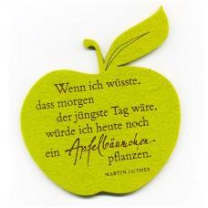 "Filzuntersetzer ""Apfelbäumchen""-Zitat"