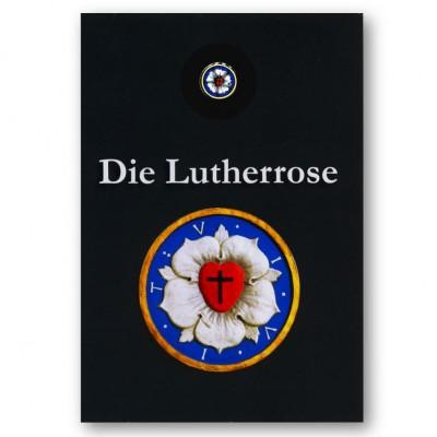 """Karte mit Pin """"Lutherrose"""""""