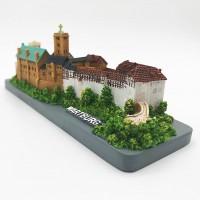 Farbiges Modell der Wartburg