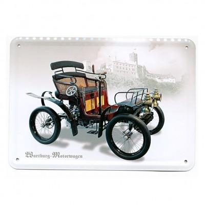 """Blechpostkarte """"Wartburg-Motorwagen"""""""