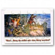 "Puzzle-Postkarte ""Wart, Berg!"""