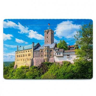 "Puzzle-Postkarte ""Wartburg im Sommer"""