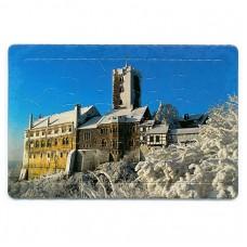 "Puzzle-Postkarte ""Wartburg im Winter"""